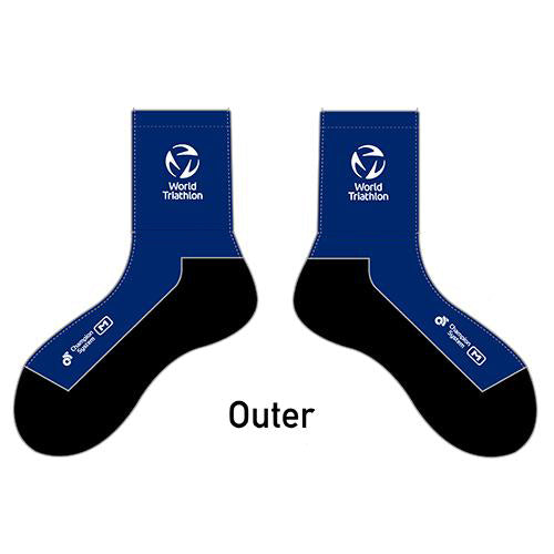 World Triathlon Socks Blue (3 pair)