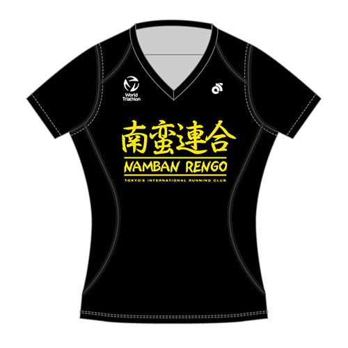 Namban Women's Short Sleeve Run Top - Black