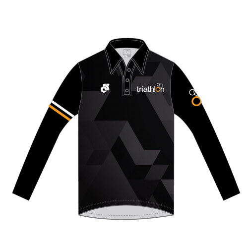 ITU Long Sleeve Tech Polo Black