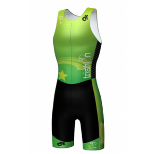 Be Seen Kid's Tri Suit Green