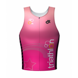 Be Seen Kid's Tri Top Pink