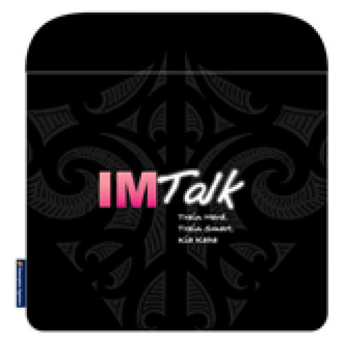 Camp IMTALK Pink Notebook Cover 13