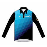 ITU Long Sleeve Tech Polo Blue