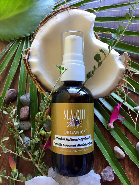 Herbal Infused~Spiced Vanilla Coconut Oil Moisturizer