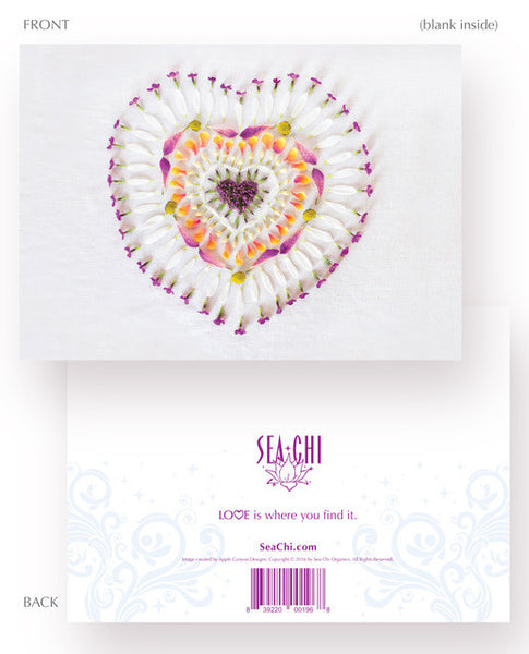Sharing Love Card - Heart Mandala No 1
