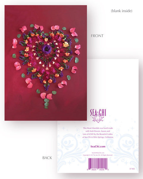 Sharing Love Card - Heart Mandala No 2