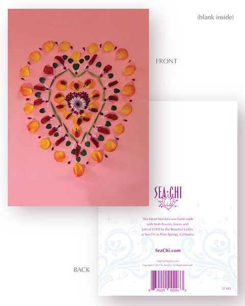 Sharing Love Card - Heart Mandala No 3
