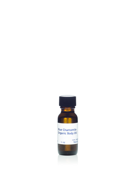 Moroccan Blue Chamomile Body Oil Sample