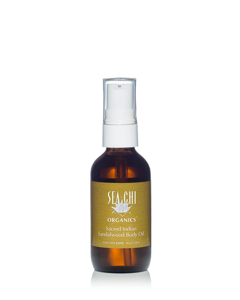 Sacred Sandalwood Body Oil - 4oz / 120ml (glass bottle)