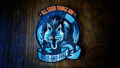 Timber Wolf with sticker LIMIT 3 OF EACH PATCH TOTAL PER HOUSEHOLD