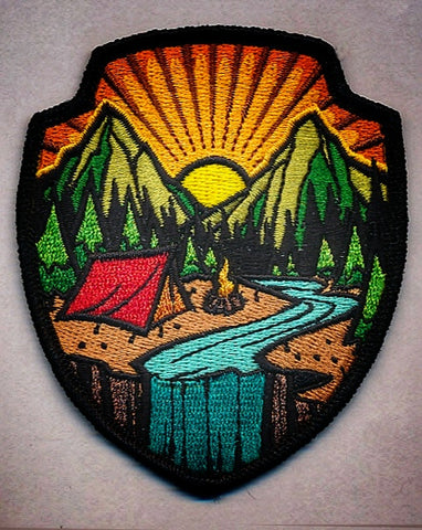 Campsite Badge with matching sticker (LIMIT 3 PER HOUSEHOLD)