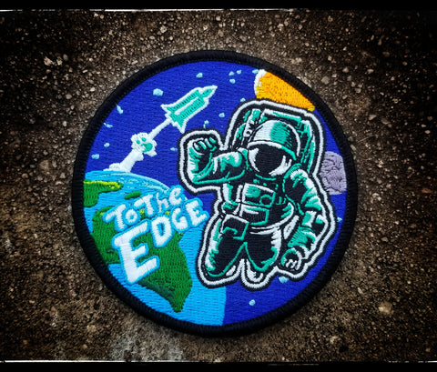 """To The Edge"" V2 Spaceman morale patch/sticker set"