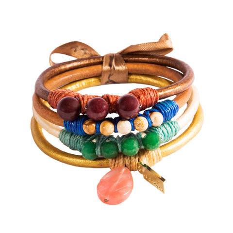 Earth Leather Bangle Pack