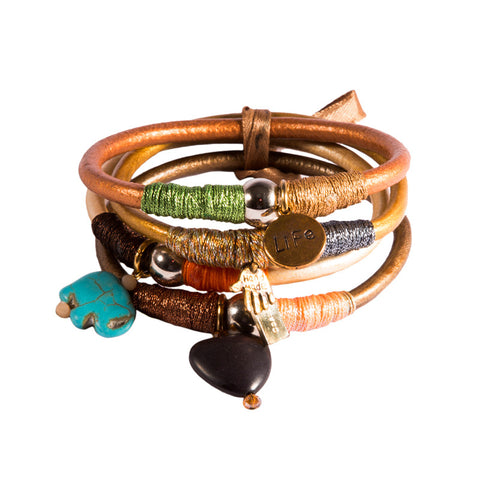 Moon Leather Bangle Pack