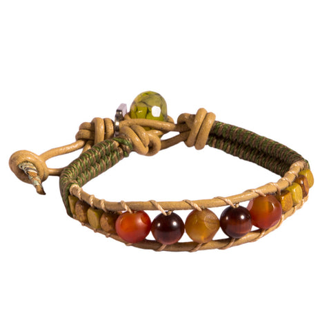 Wood Beads Bracelet Lemon