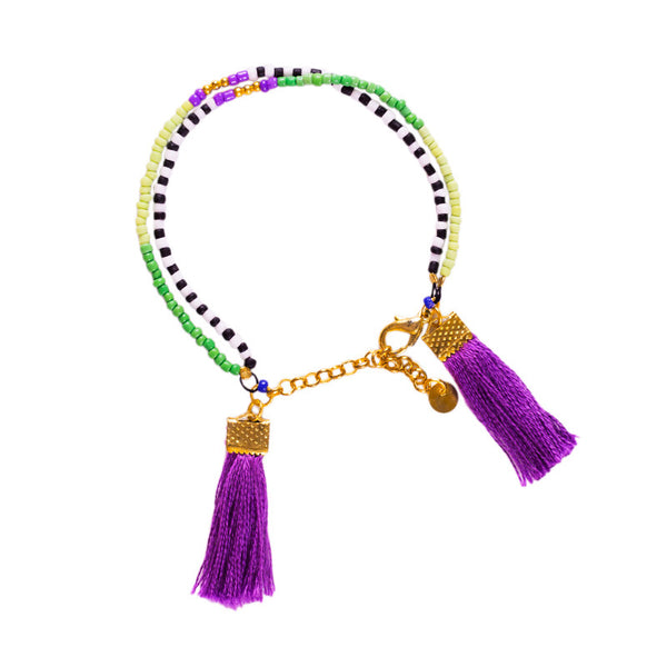 Multi Colored Seed Bead Bracelet - 3 COLORS