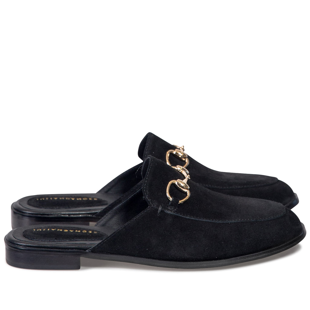 Stillness Loafer - Black Suede