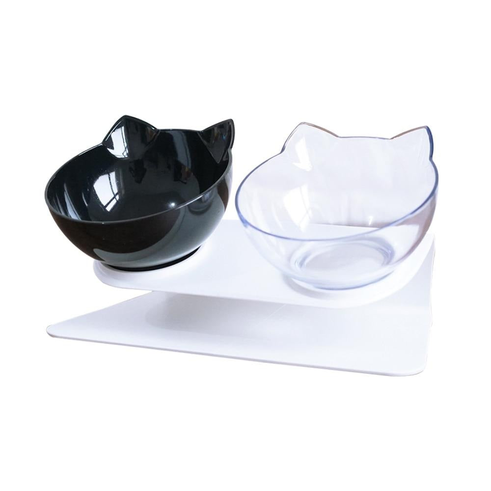 Double Pet Bowls With Raised Stand