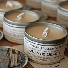 Orange Beach Soy Candle Tin