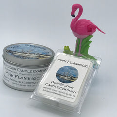 Pink Flamingo Soy Candle Tin
