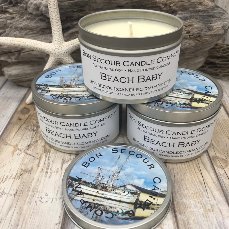 Beach Baby Soy Candle Tin