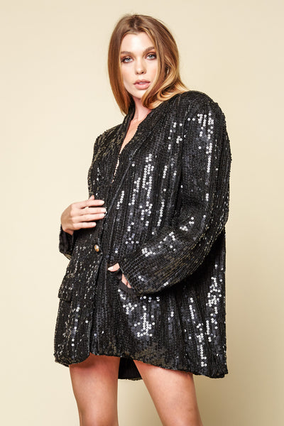 One-of-a-kind Vintage Sequin Blazer