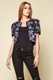 One-of-a-kind Vintage Beaded Cropped Jacket