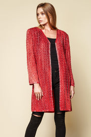 One-of-a-kind Vintage Beaded Long Jacket