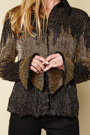 One-of-a-kind Vintage Beaded Button Down