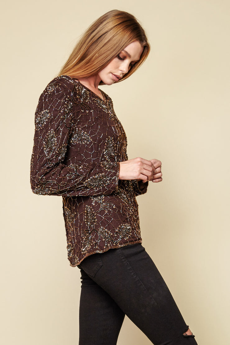 One-of-a-kind Vintage Beaded Blouse