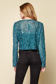 One-of-a-kind Vintage Beaded Tie Top