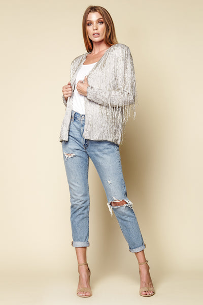 One-of-a-kind Vintage Beaded Fringe Jacket