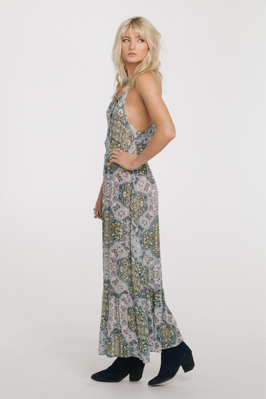 Sunset Blues Maxi Dress