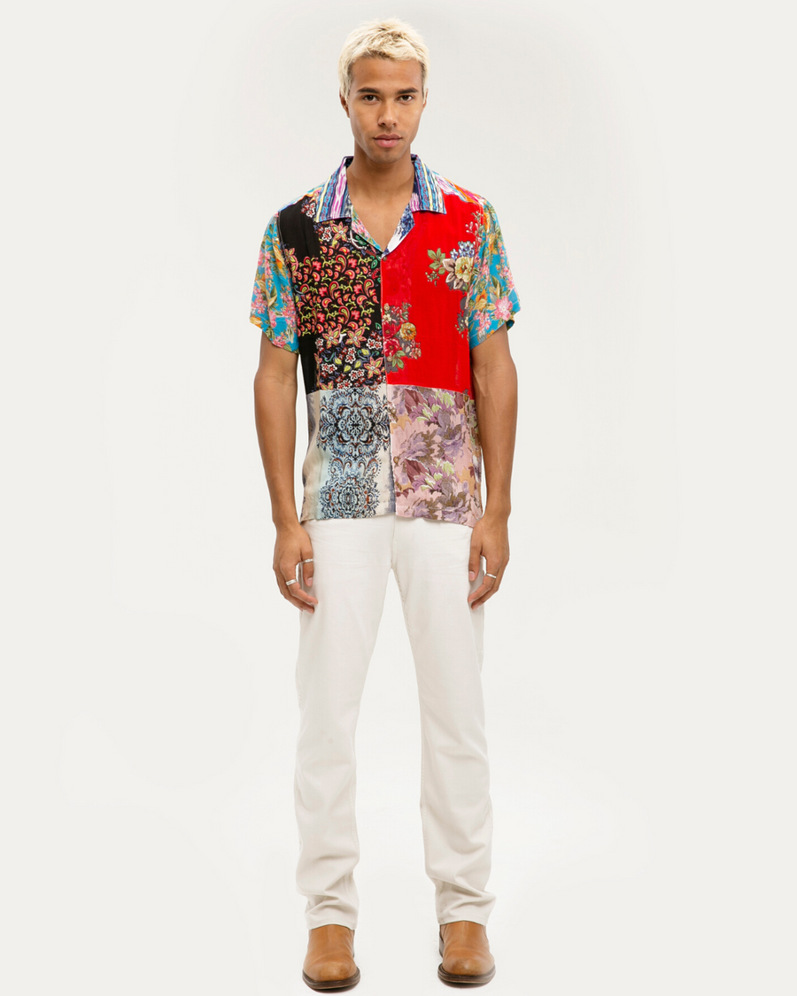 RAGA MAN Patchwork Shirt
