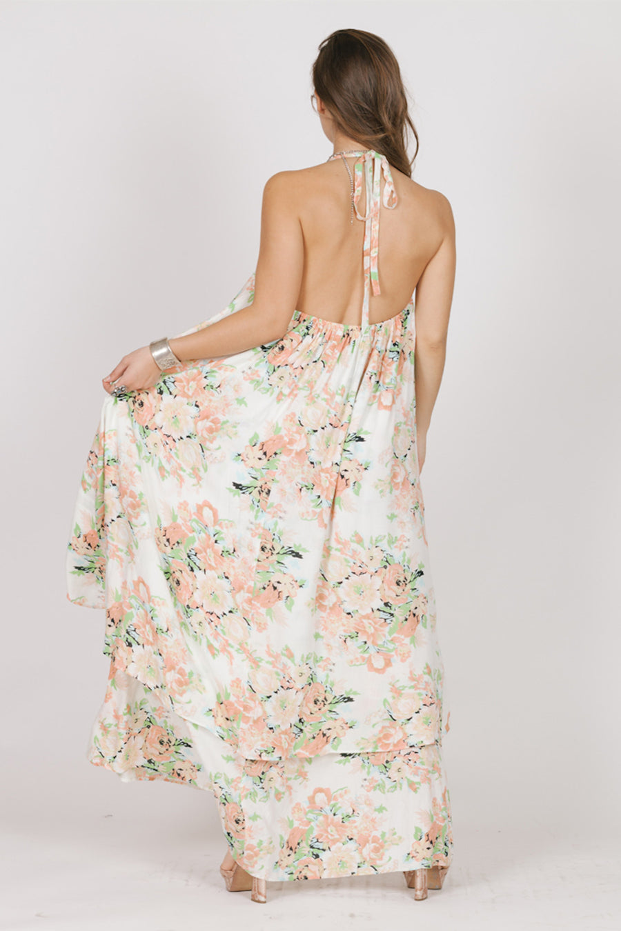 Garden Party Halter Maxi Dress