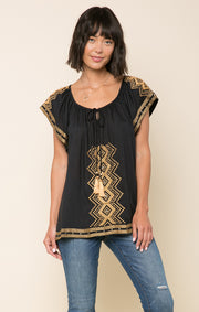 Edith Embroidered Tassel Tunic