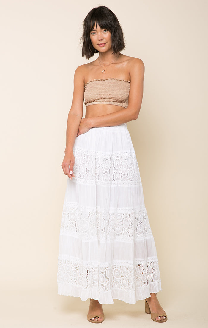 Kimberly Lace Panel Maxi Skirt