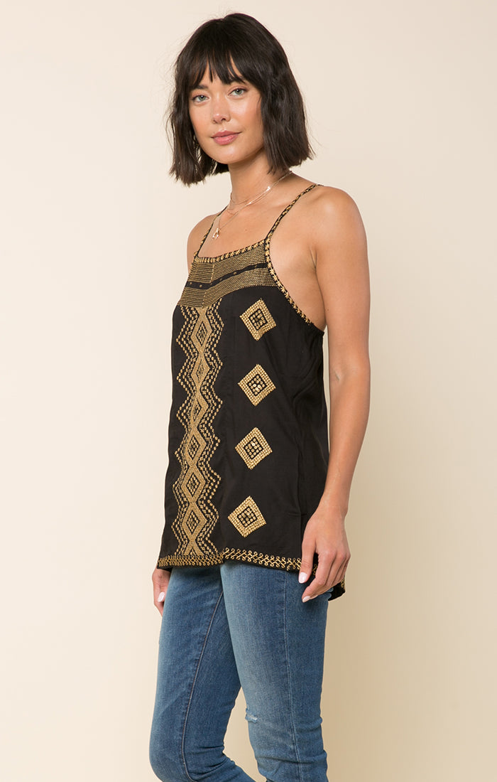 Edith Embroidered Tank