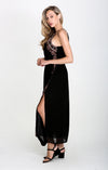 Ancon High Neck Slit Maxi Dress