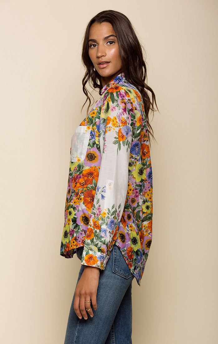 WATERCOLOR FIELDS BUTTON DOWN