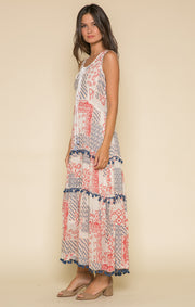 Dixie Lace Up Maxi Dress