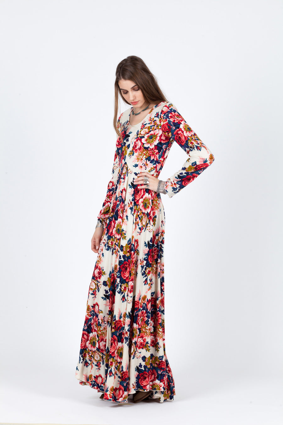 GARDEN PARTY LONG SLEEVE MAXI