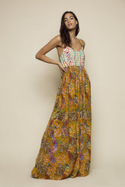 Feathers of Paradise Maxi Dress