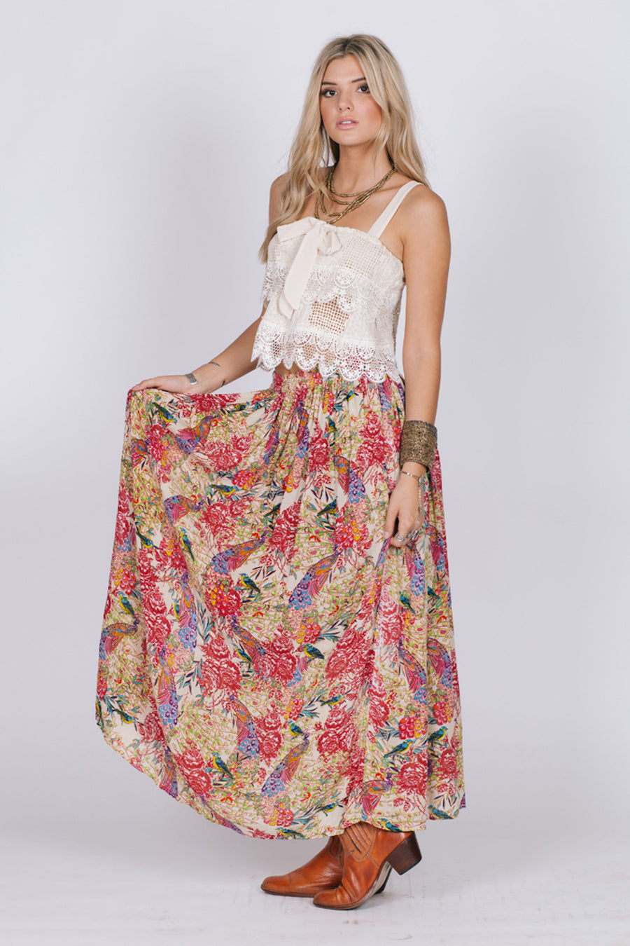 Birds Of Paradise Maxi Skirt