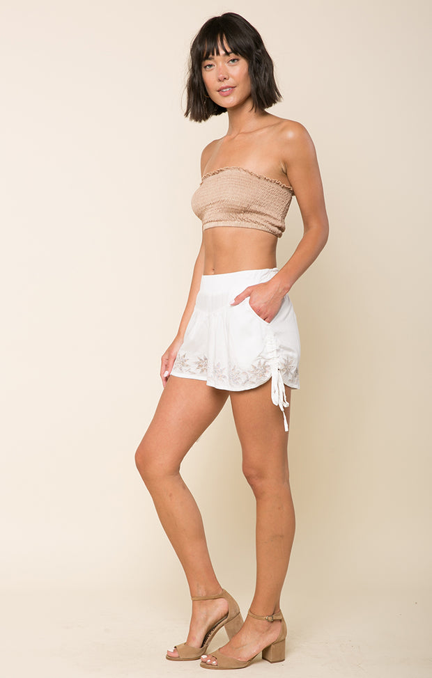 Lotus Love Drawstring Shorts