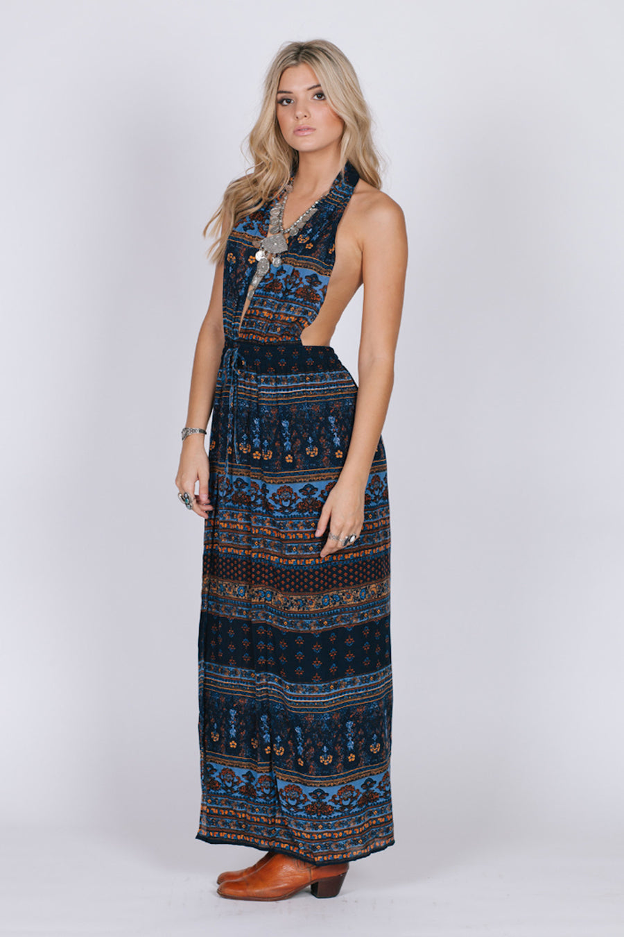Midnight Blues Maxi Dress