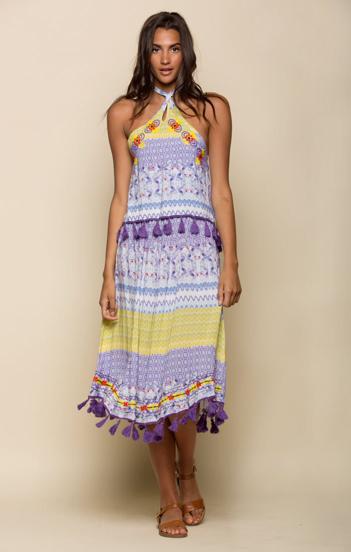 Tropicbird Ruffle Halter Dress