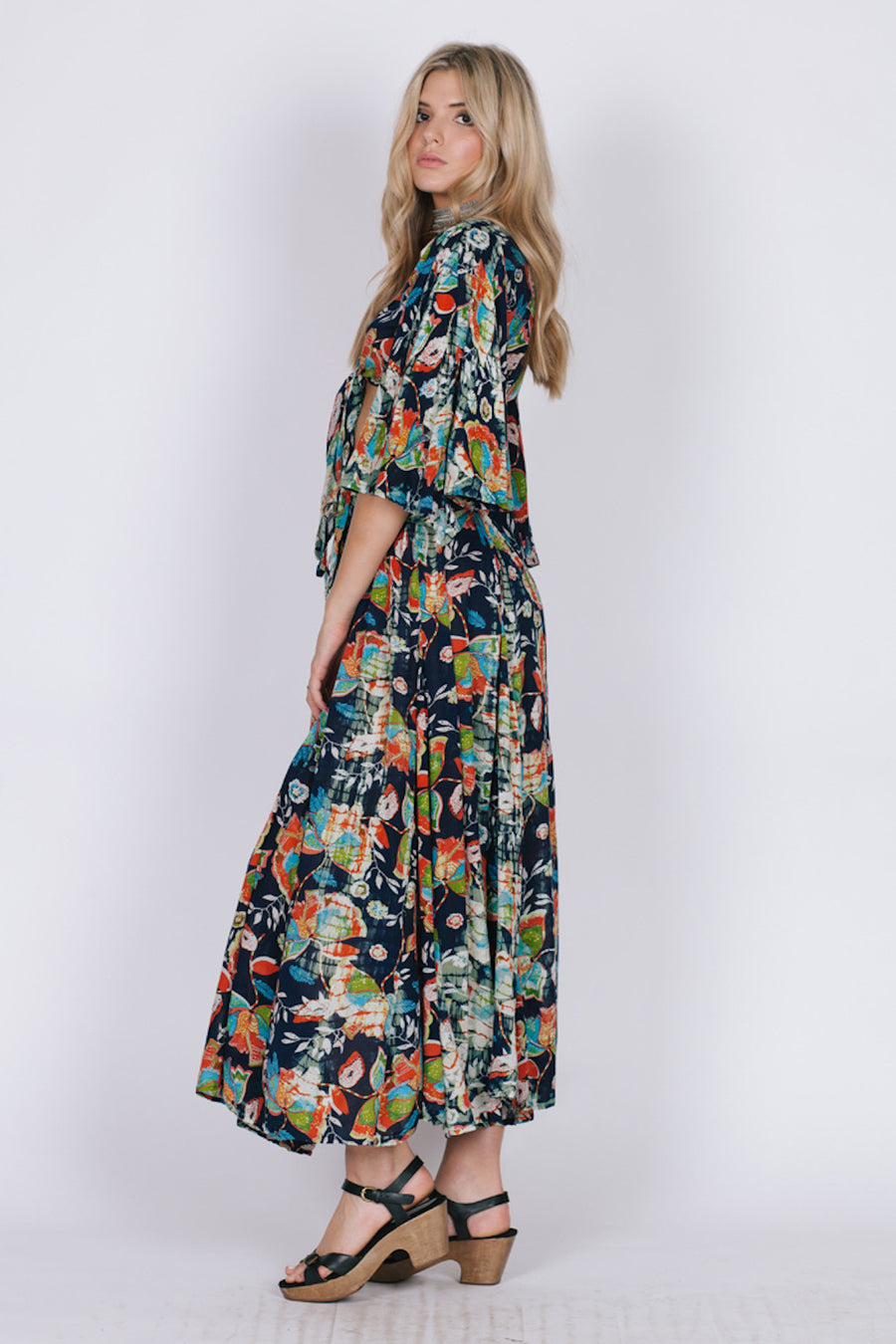 TROPICAL PARADISE MAXI SKIRT