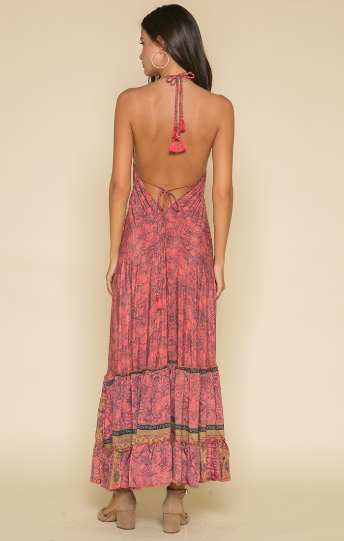 Passion Struck Halter Maxi Dress