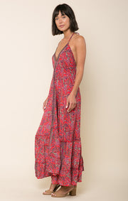 Lasting Passion Halter Maxi Dress